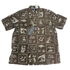 Reyn Spooner Mens Hawaiian Shirt Size Medium M New